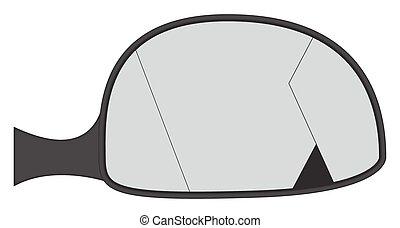 Cracked Car Side Mirror