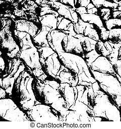 cracked clay ground into the dry season. Vector illustration.