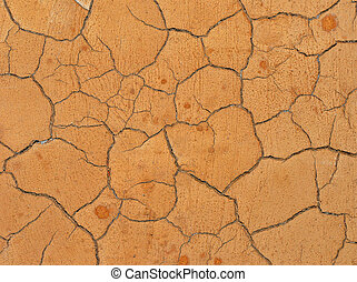 Cracked clay surface