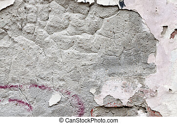 Cracked concrete old wall texture background