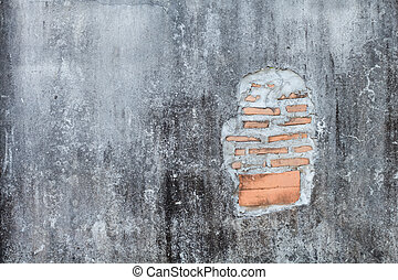 cracked concrete vintage brick wall background