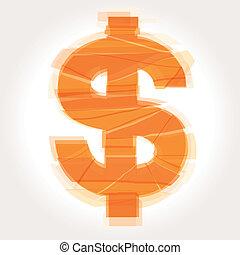 cracked dollar symbol