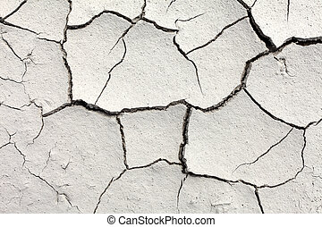 Cracked dry soil - Dry soil background with crack