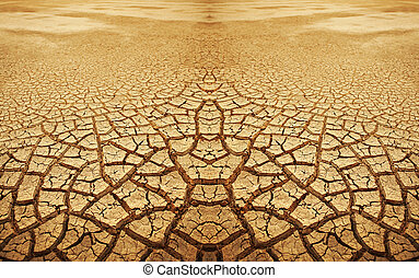 Cracked earth background.