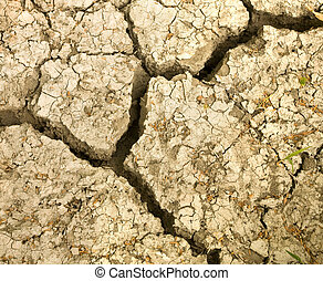 cracked earth soil.
