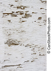 Cracked flaky white paint abstract texture background.