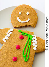 Cracked Gingerbread cookie