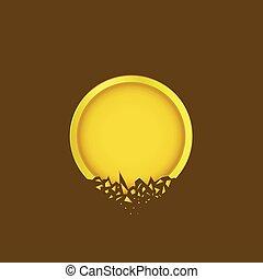 Golden label icon - Cracked Golden label icon. Broken...