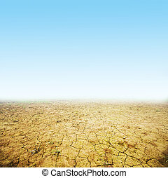 Cracked ground background. Ready to use. Global warming, ...