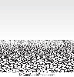 Environment devastation background, cracked extremely dried ground