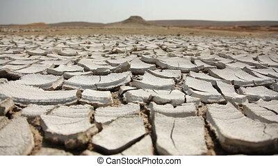 Cracked land.