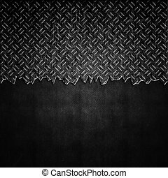 Cracked Metal Background - Cracked metal plate background...