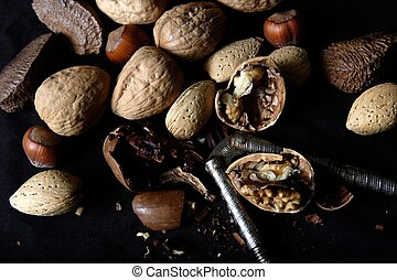 Cracked mixed nuts