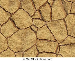 Cracked Mud - Realistic Illustration of Cracked Mud Soil by...