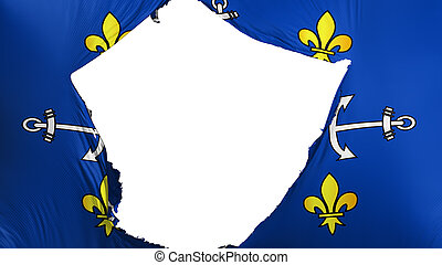 Cracked Port Louis city flag - Cracked Port Louis city, ...