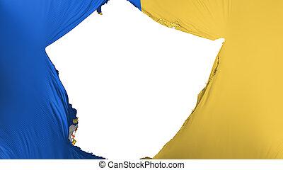 Cracked Santiago city flag - Cracked Santiago city, capital...