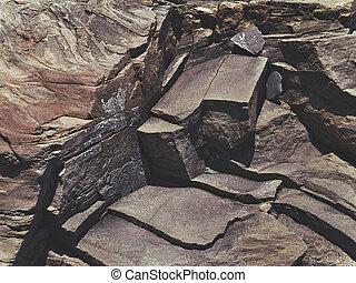 cracked stone rock