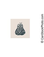 Cracked style pear icon