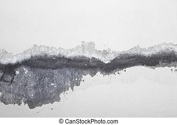 Cracked white wall with old layers of paint background