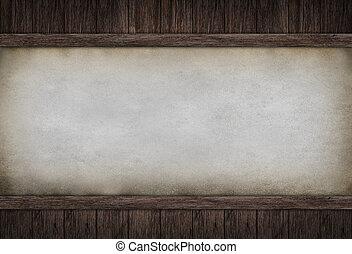 wood board frame on concrete