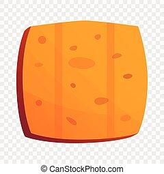 Cracker biscuit icon, cartoon style