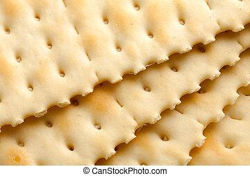 Cracker close up shot for background