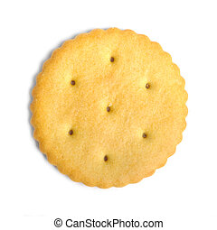 Cracker cookie isolated on white background