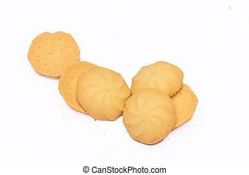 Cracker cookies on white background