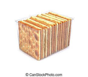 Cracker in the package isolated on a white background