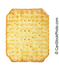 Cracker isolated on a white background