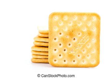 Cracker on white background