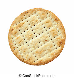 cracker - closeup of a savory cracker isolated on white