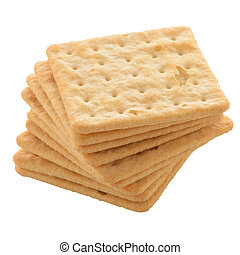 Cracker - Tasty cracker biscuit isolated on white background