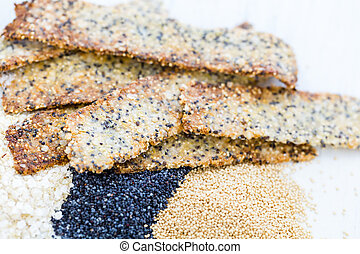 Crackers - Gluten free crackers with seeds and quinoa...