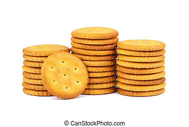 Crackers isolated on white background