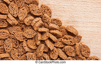 crackers pieces of dried bread