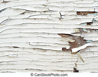 Crackle surface. - White chapped painted surface.