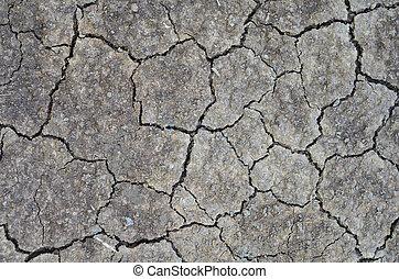 cracks., 地面