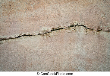 Cracks on the wall background