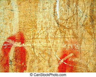 cracks., vieux, mur, texture
