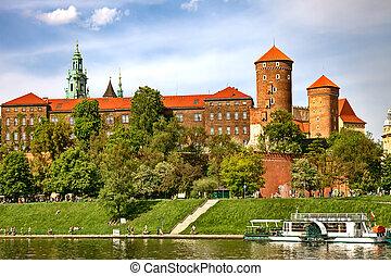 cracow, ポーランド, wawel, 城