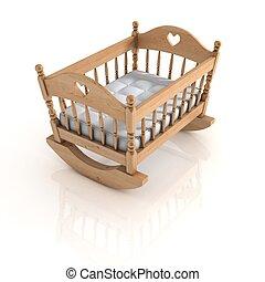 cradle isolated