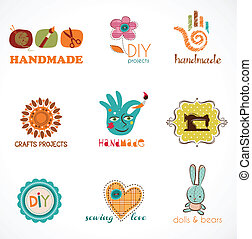 Craft and do it yourself, collection of icons - Craft and do...