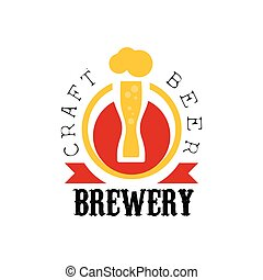 Craft Beer Brewery Logo Design Template