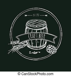 Craft Beer Hand Drawn Template