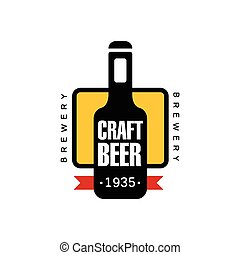 Craft Beer Logo Design Template