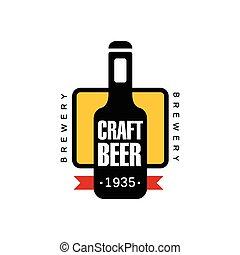 Craft Beer Logo Design Template