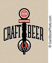 Craft Beer Vector Design - Vector Illustration with Drink ...