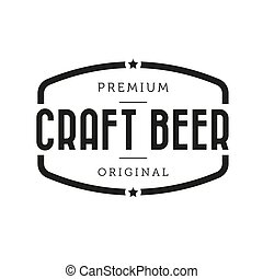 Craft Beer vintage sign vector