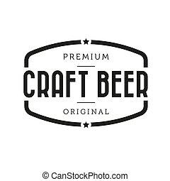 Craft Beer vintage sign vector